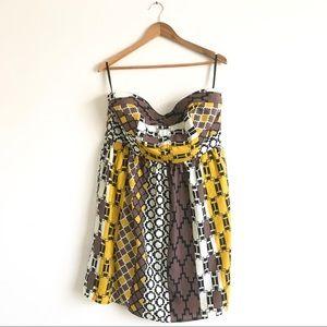 Torrid Strapless Geometric Print Dress Sz 16